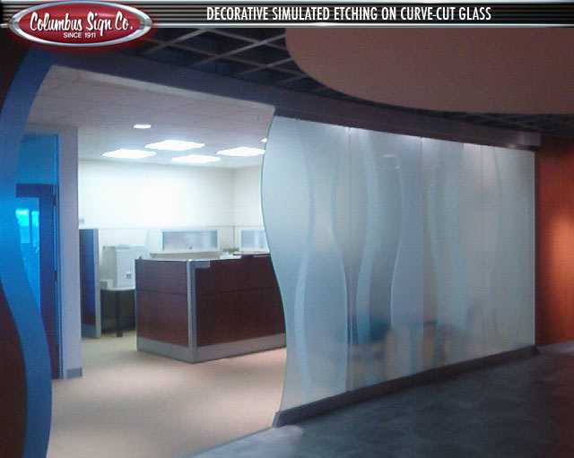 Frosted Crystal Vinyl Window Graphics